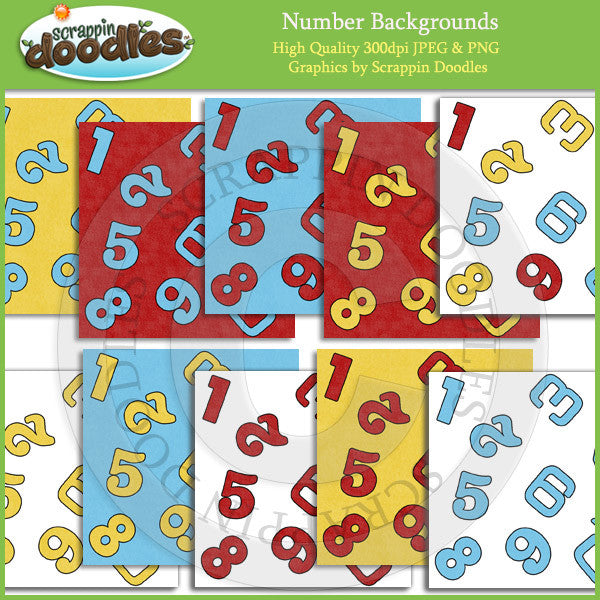 Number Backgrounds Download