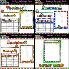 October Classroom Calendar Pack