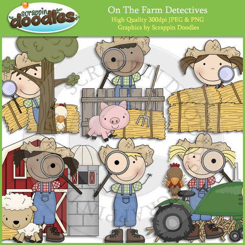 On The Farm Detectives Clip Art Download