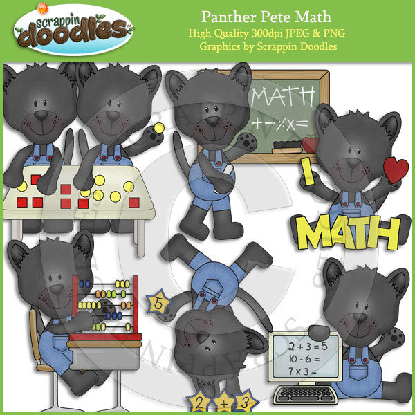 Panther Pete Math Clip Art Download
