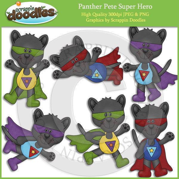 Panther Pete Super Hero Clip Art Dowload
