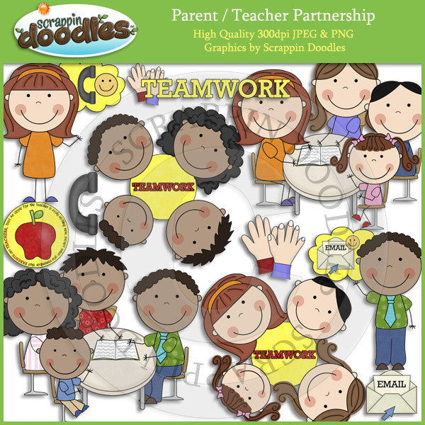 Parent and Teacher Partnership Clip Art Download