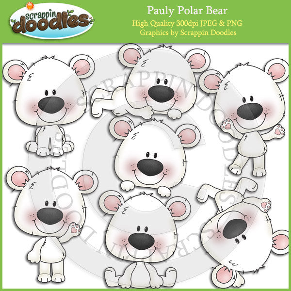 Pauly Polar Bear Clip Art Download