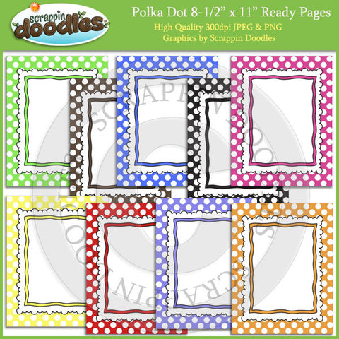 Polka Dot 8 1/2 x 11 Ready Pages / Cover Pages Download