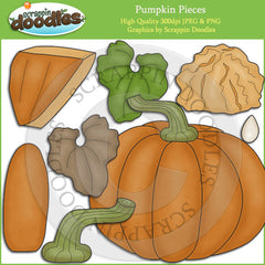 Pumpkin Pieces Clip Art Download