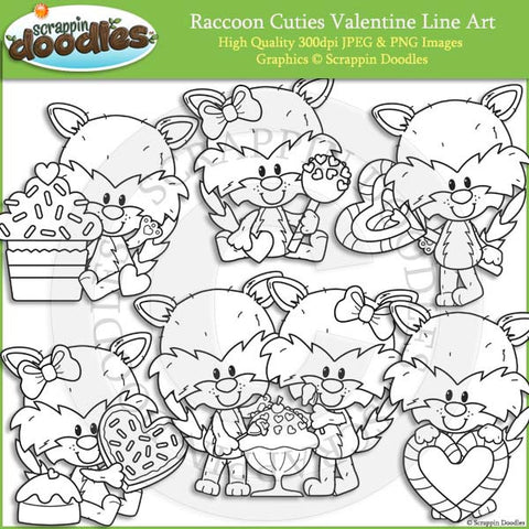 Raccoon Cuties Valentines