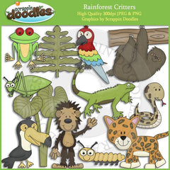 Rainforest Critters Clip Art Download