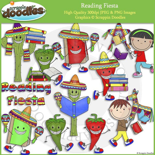 Reading Fiesta Clip Art