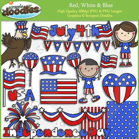 Red, White & Blue Clip Art