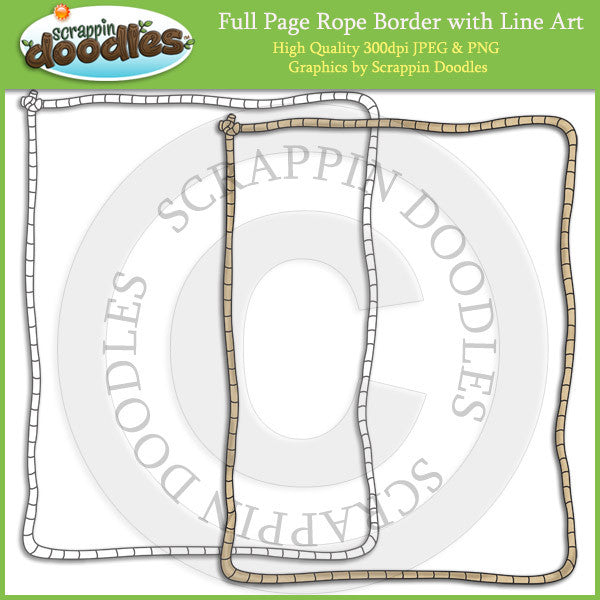 Full Page Rope Border Single Graphic & Line Art