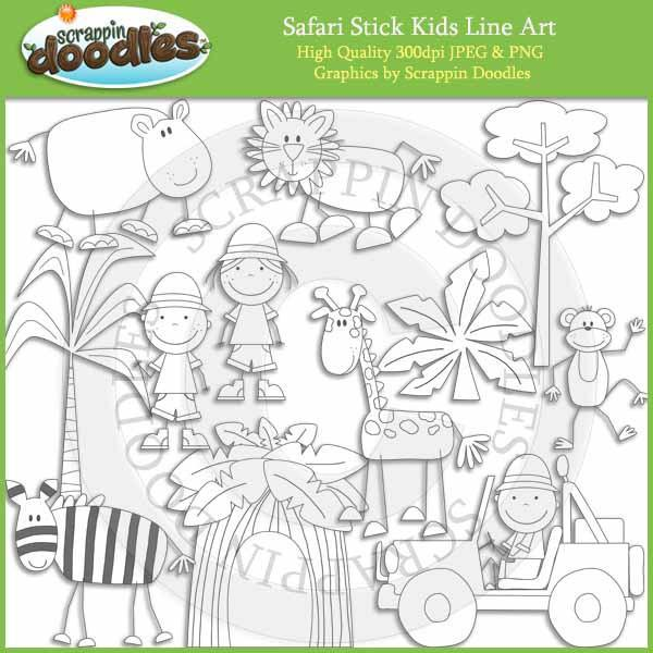 Safari Stick Kids