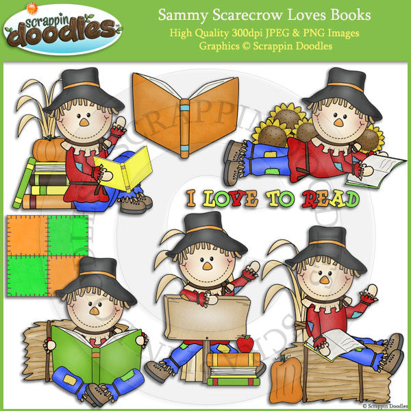 Sammy Scarecrow Loves Books