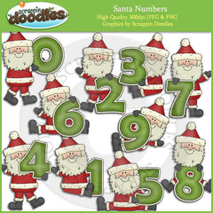 Santa Numbers Clip Art Download