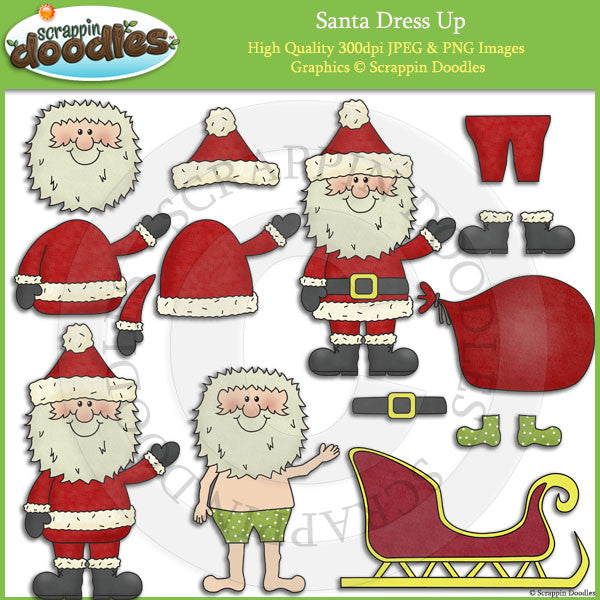Santa Dress Up Clip Art