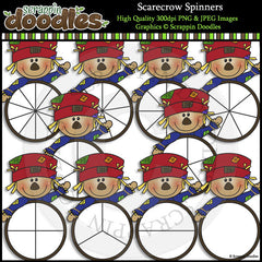 Scarecrow Spinners Clip Art & Line Art
