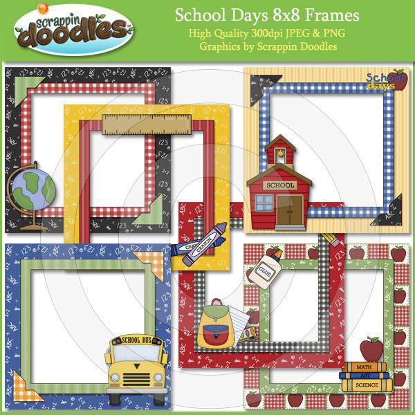 "School Days 8""x8"" Frames"