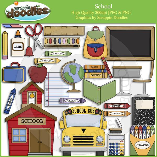 School Clip Art Collection Commercial Use