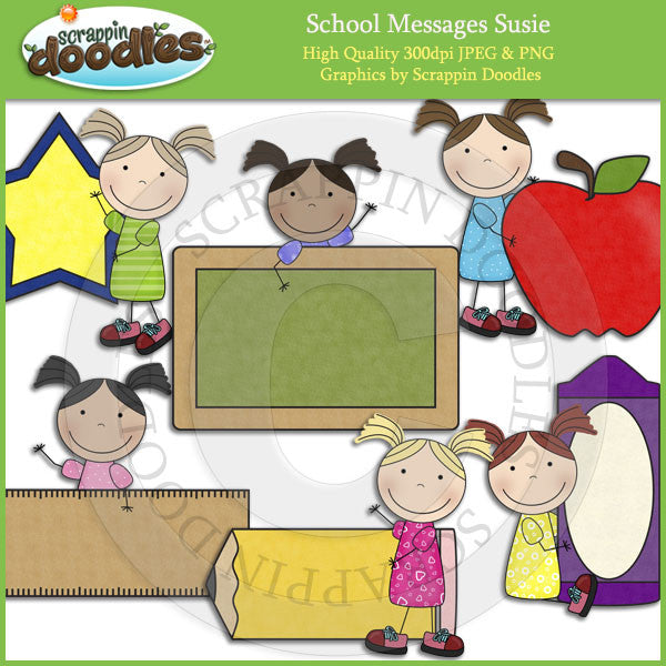 School Message Susie Clip Art Download