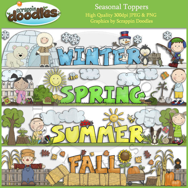 Seasonal Toppers Download