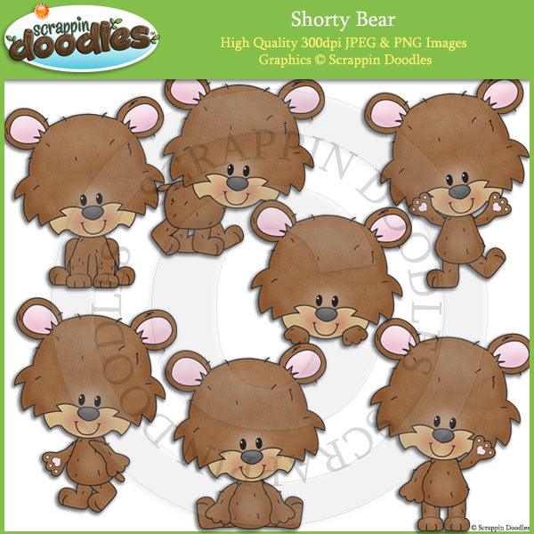 Shorty Bear Clip Art