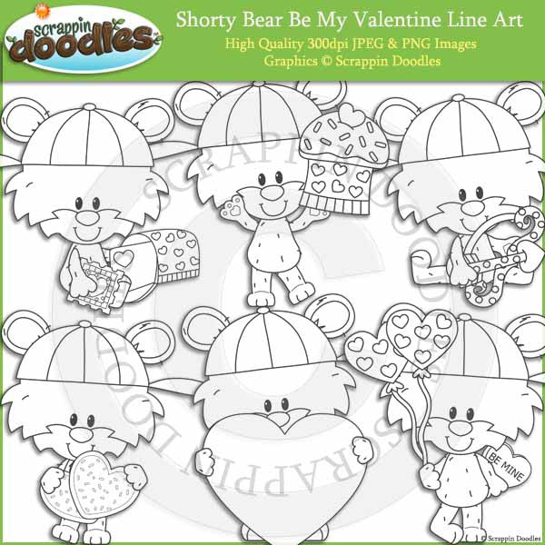 Shorty Bear Be My Valentine