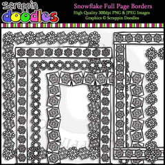 Snowflake Full Page Borders