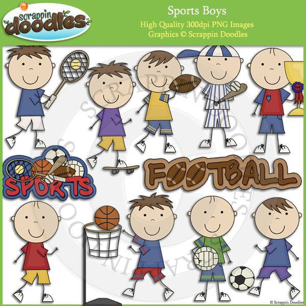 Sports Boys Clip Art Download
