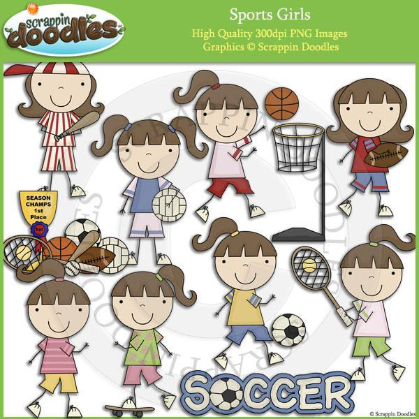 Sports Girls Clip Art Download
