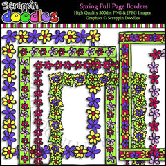 Spring Full Page Borders