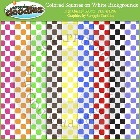 Colored Squares on White Backgrounds Download