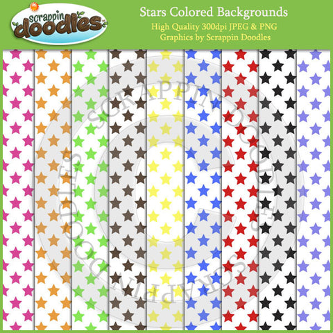 Colored Stars on White Backgrounds Download