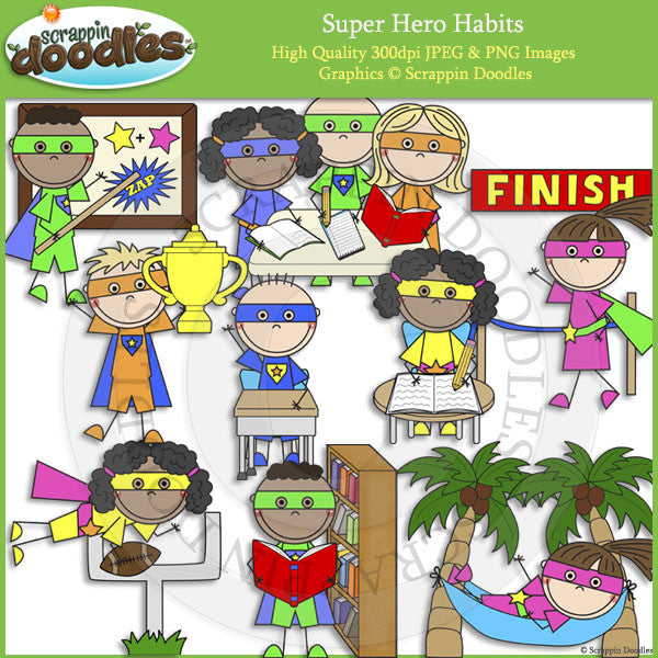 Super Hero Habits Clip Art