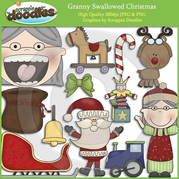 Granny Loves Christmas Clip Art Download