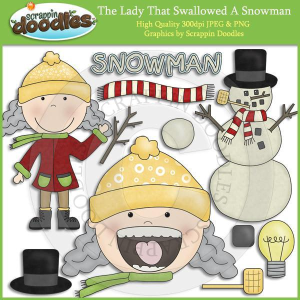Granny Loves Snow Clip Art Download