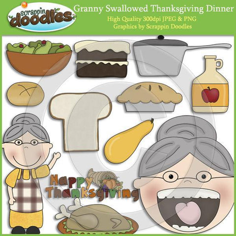 Granny Loves Thanksgiving Clip Art Download
