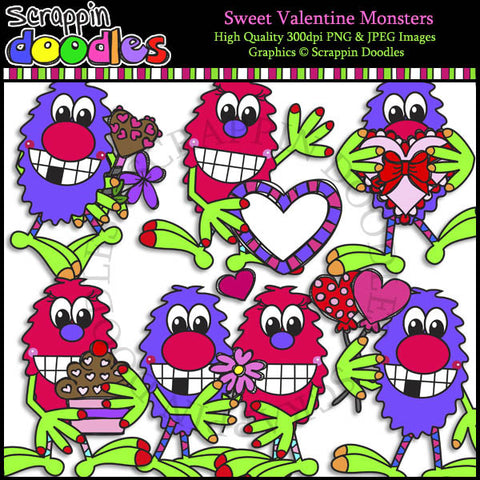 Sweet Valentine Monsters