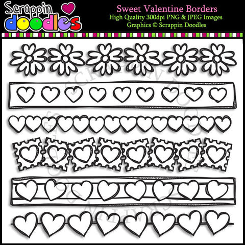 Sweet Valentine Borders