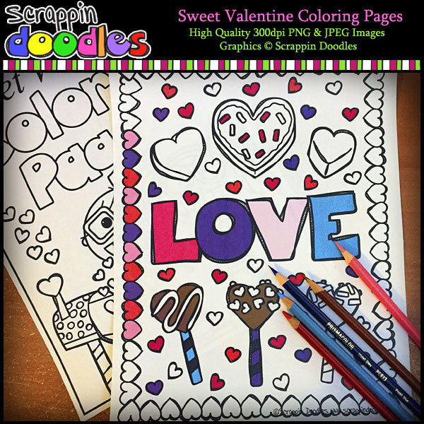 Sweet Valentine Coloring Pages