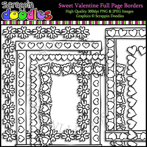 Sweet Valentine Full Page Borders