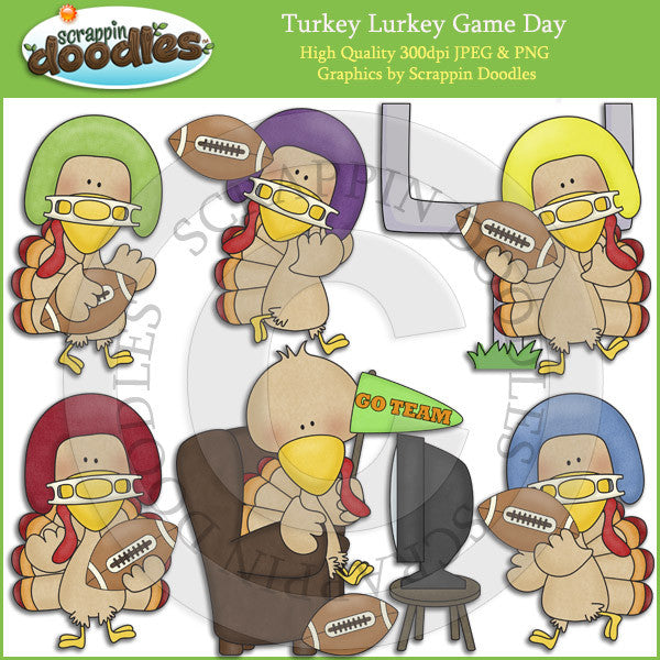 Turkey Lurkey Game Day Clip Art Download
