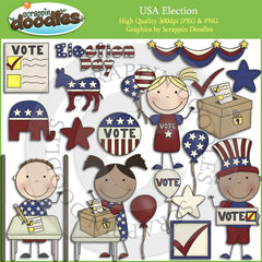 USA Election Day Clip Art Download