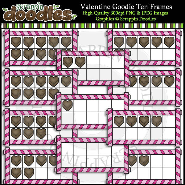 Valentine Goodie Ten Frames