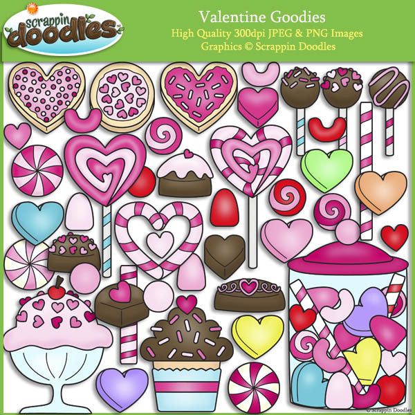 Valentine Goodies Clip Art