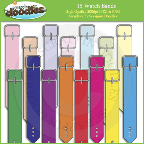 Colored Watch Bands for Watch Template Download
