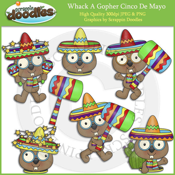 Whack A Gopher Cinco De Mayo Add On Clip Art Download