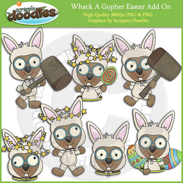 Whack A Gopher Easter Add On Clip Art Download