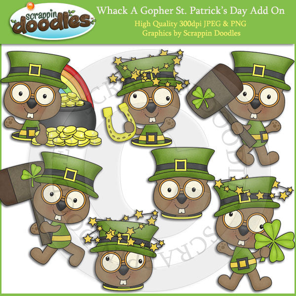 Whack A Gopher St. Patrick's Day Add On Clip Art Download