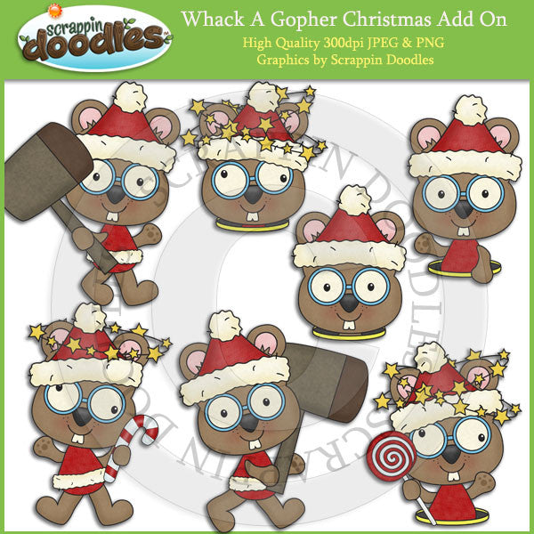 Whack A Gopher Christmas Add On Clip Art Download