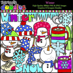 Winter Clip Art Commercial Use