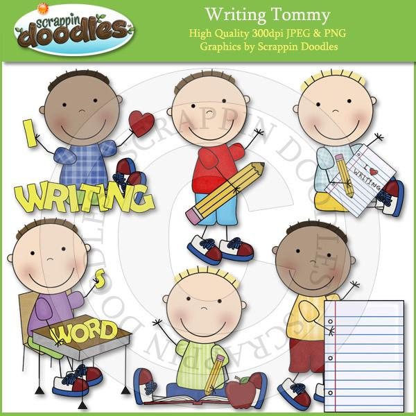 Writing Susie & Tommy Clip Art